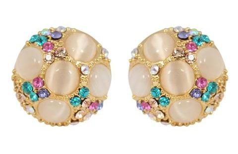 Crystal clip on earring