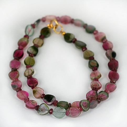 Tourmaline MultiColor Gemstone Necklace