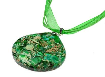 Ribbon gemstone pendant