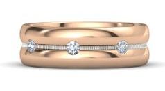 Rose Gold Rings for Men In Diamonds