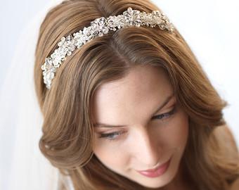 Beaded Floral Headbands