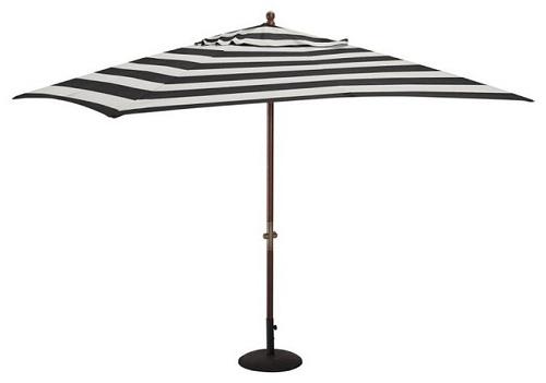 Striped Pattern Garden Umbrellas