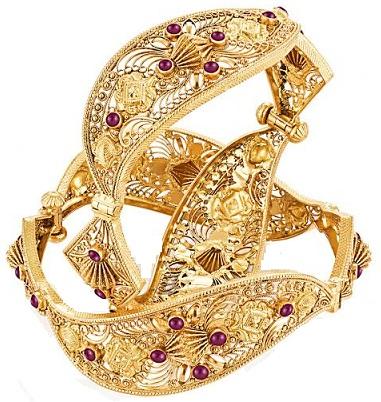 22 Karat Beautiful Crafted Gold Bangles