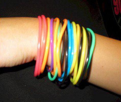 Bangle type Rubber bracelets