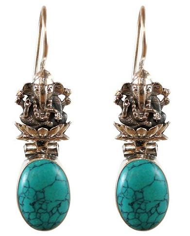 Temple Jewellery Turquoise Earring