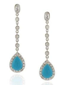 Teardrop Turquoise Earring
