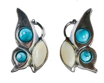 Side Butterfly Turquoise Earring