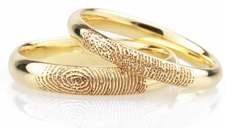 Finger Print Wedding Rings