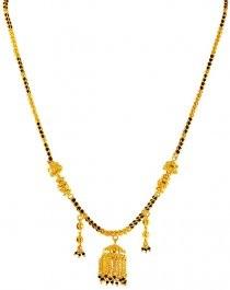 22k Gold Mangalsutra with Jhumka Pendant