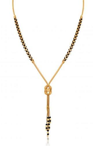 22k Gold Mangalsutra with Swirl Design