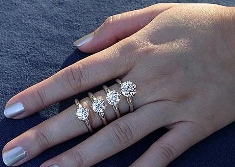 1 Carat Trendy Diamond Ring