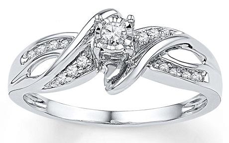 1 Carat Diamond Promise Ring