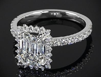 Emerald Cut 2- Carat Diamond Ring