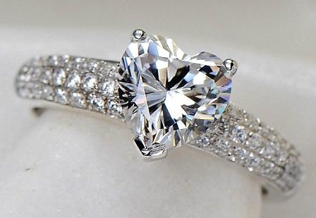 Heart Shaped 2- Carat Diamond Ring