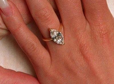 Marquise Shaped 2- carat Diamond Engagement Ring