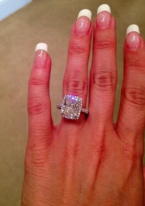 Cushion Cut 5 Carat Diamond Ring