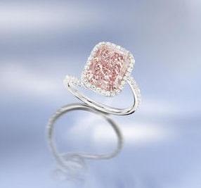 5 Carat Pink Diamond Ring