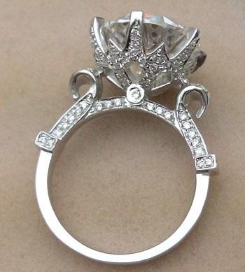 5 Carat Royal Design Cut Diamond Ring
