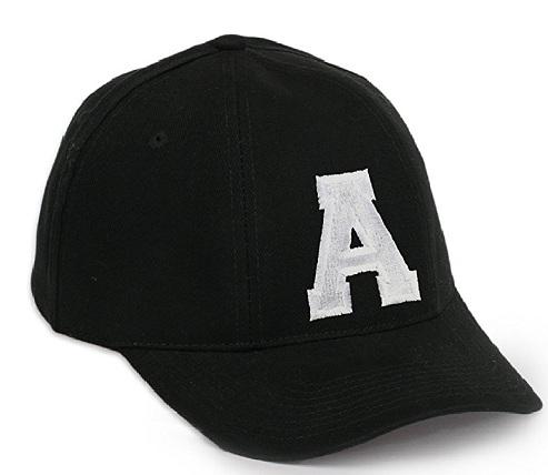 Alphabet Embroidered Snap Back Baseball Hats