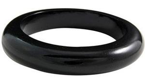 Wood Black Bangle