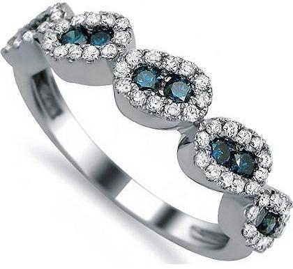 Blue Diamond Wedding Bands