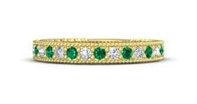 Gold-Emerald-Solitaire Bangle