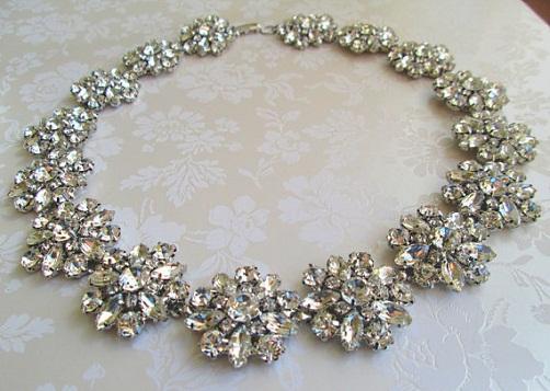 Crystal chunky necklace