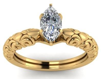 Single Diamond Designer Ring