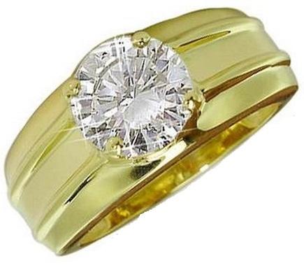 Single Diamond Men's Ring