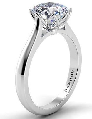 Single Shank Tulip Basket Engagement Ring