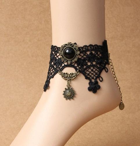 black-anklet-designs-gypsy-anklets