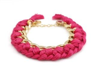 pink-braided-chain-bracelet-5