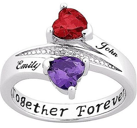 Personalized Princess Cut Diamond Ring