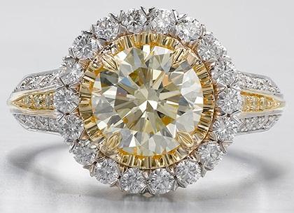Double Halo Designer Engagement Ring
