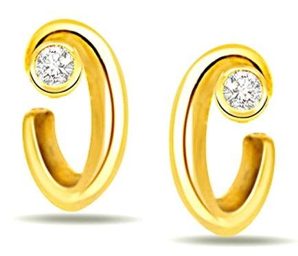 Sleek solitaire earrings