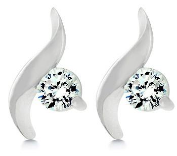 Solitaire twist earrings