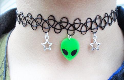 Alien Tattoo Choker