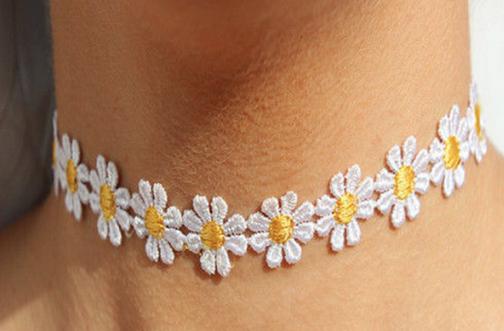 Floral Tattoo Choker