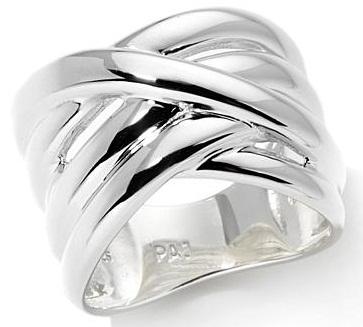 Sterling Silver Criss- Cross Rings for Girls
