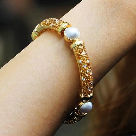 Intense Deep Pearl Bracelet