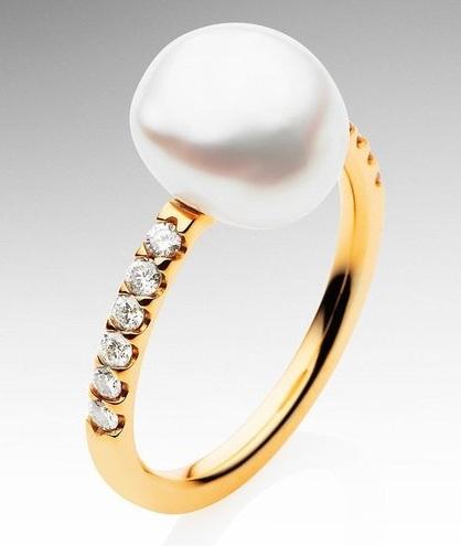 Eternity Yellow Keshi Pearl Rings