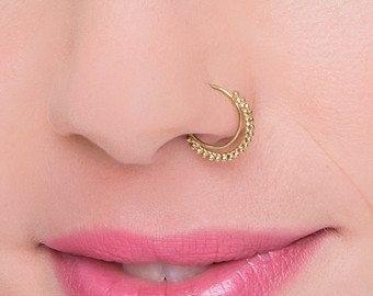 Designer Gold Hoop Nose Ring