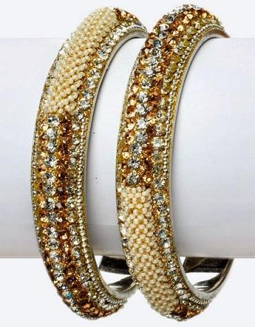 Pearl and Crystal Bangle