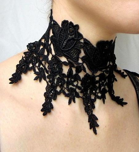 Victorian lace choker
