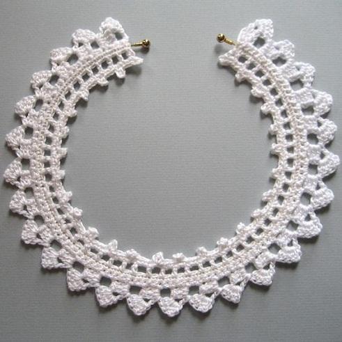 Crochet lace choker