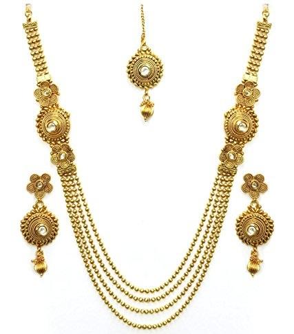 Antique Artificial Temple Necklace Set