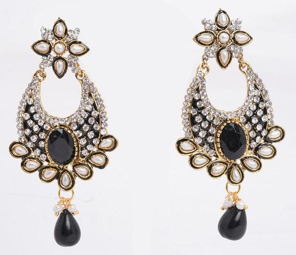 Artificial Kundan Temple Jewellery Earrings