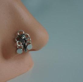 Fake Dangle Nose Ring