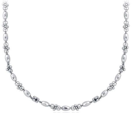 platinum-faceted-cluster-necklace