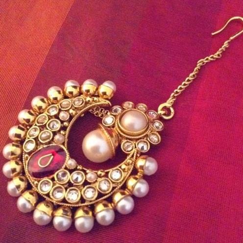 Pearl Bridal Special Punjabi Maang Tikka